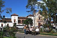 Praça de Gertrudis Bocanegra, em Pátzcuaro, em Michoacán, no México