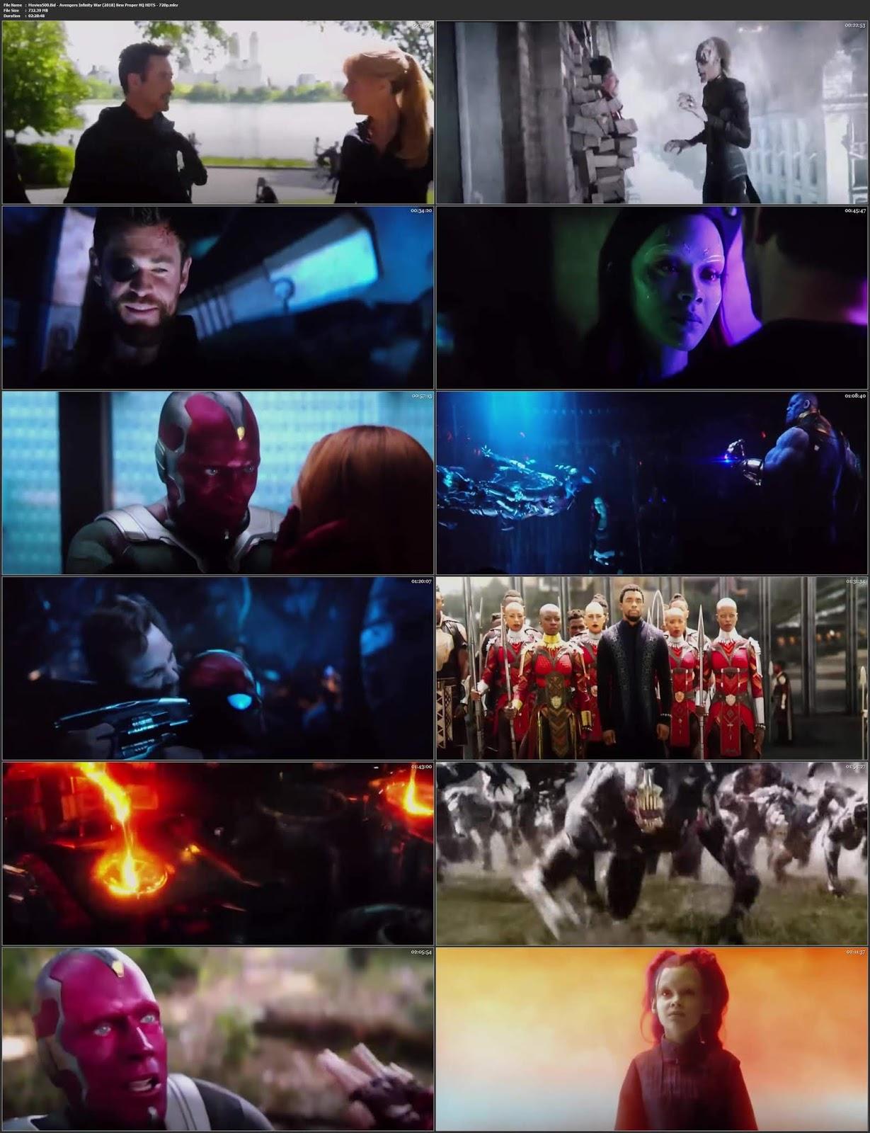 Avengers Infinity War 2018 Dual Audio New Proper 700MB HEVC 720p