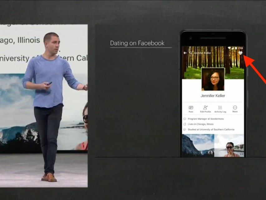 Fb dating features