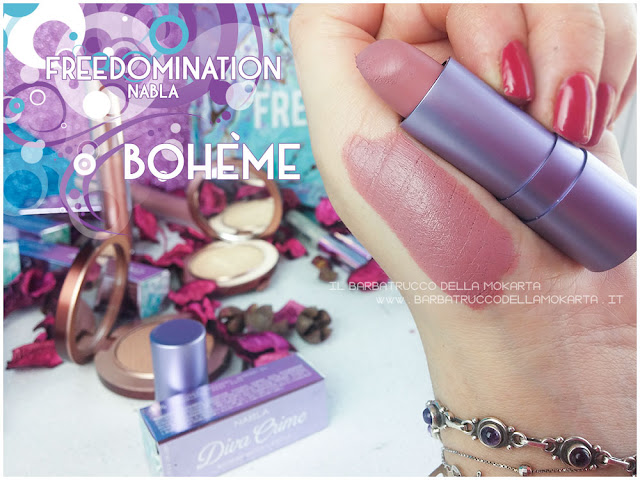 boheme nabla cosmetics swatches freedomination collection summer lipstick diva crime