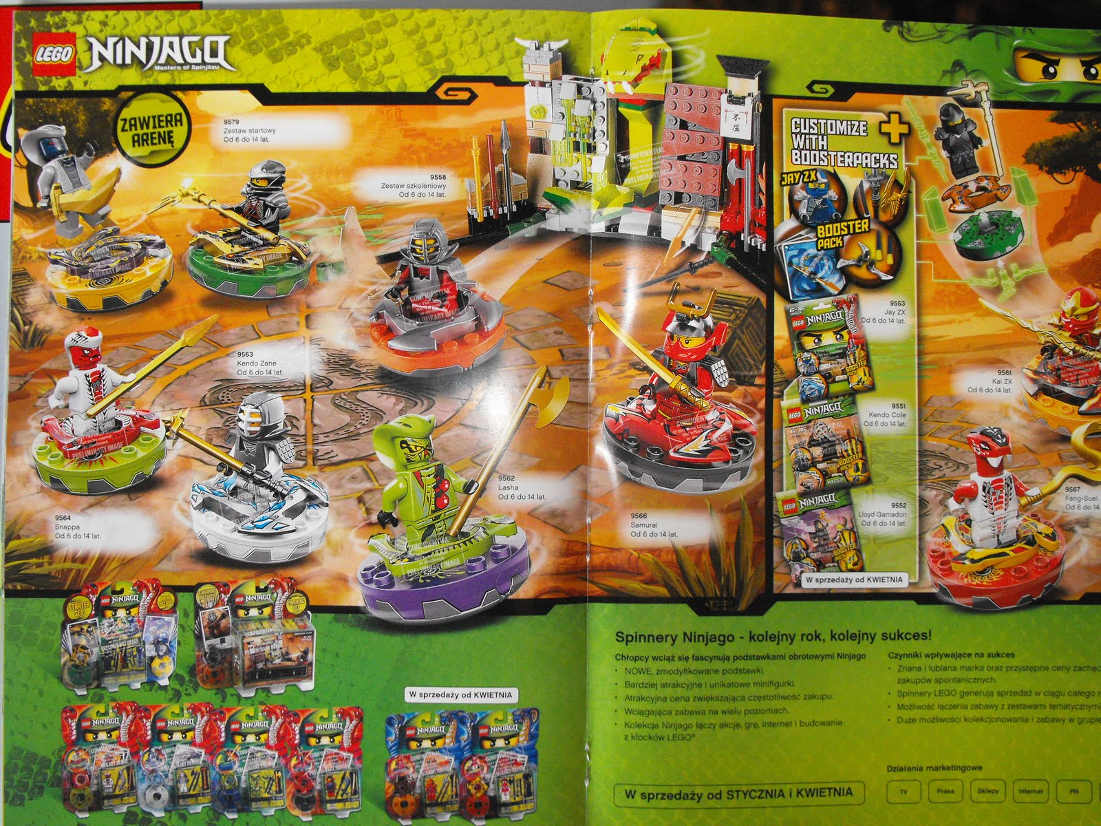 The Brick Brown Fox Lego Ninjago Spinners 2012 Sets