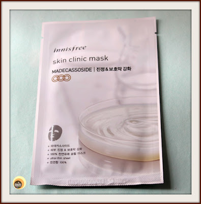 INNISFREE SKIN CLINIC MASK- MADECASSOSIDE SHEET MASK REVIEW ON NBAM BEAUTY BLOG