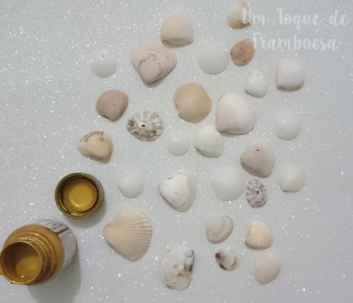 DIY: Pintando conchas marinhas com tinta dourada