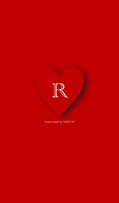 Heart Initial -R-