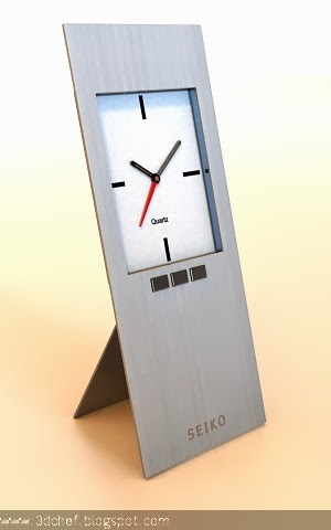 free 3d model desk clock