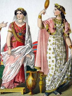 ricerca per la scuola sull'abbigliamento degli etruschi