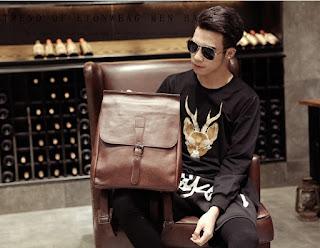 Tas Branded Pria Model Retro Korea Terbaru Juli 2016 Murah