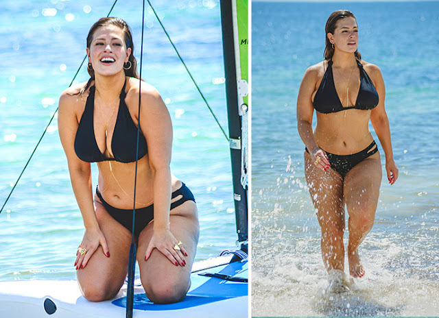 Ashley Graham Sizzles In A Bikini On The Beach In Mexico(Photo)