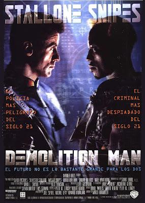 Demolition man, Sylvester Stallone, Wesley Snipes, Marco Bambrilla, Sandra Bullock