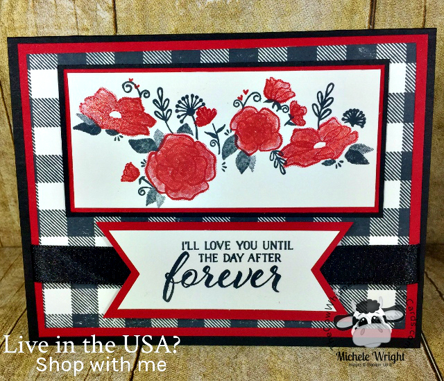 Card, Forever Lovely, Buffalo Check, Valentine