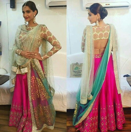 49 Asymmetrical Layered Lehengas