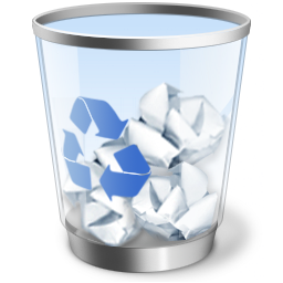 How to remove files in recycle bin with one click