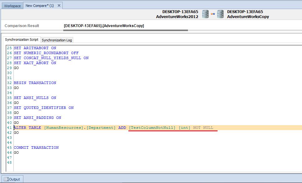 Synchronizing NOT NULL Columns - SQLServerCentral