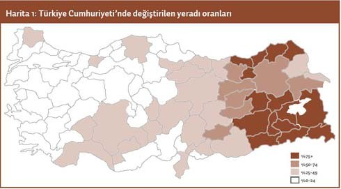 harita kürt şehirleri