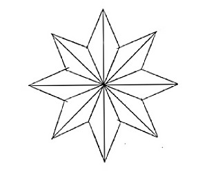 cara+menggambar+bintang