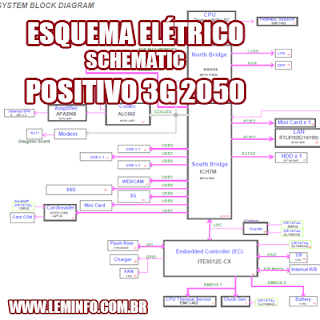 Esquema Elétrico Notebook Laptop Positivo 3G 2050 Manual de Serviço  Service Manual schematic Diagram Notebook Laptop Positivo 3G 2050        Esquematico Notebook Laptop Positivo 3G 2050