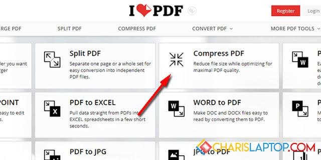 Cara Mengecilkan PDF dengan ILovePDF