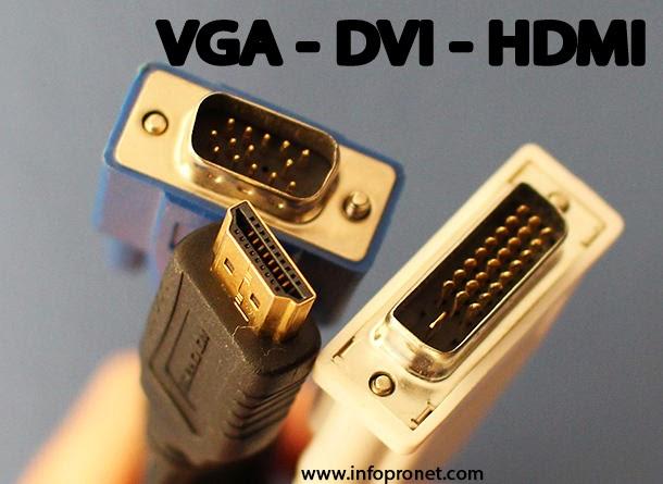 الفرق بين كابلات  vga و dvi و hdmi