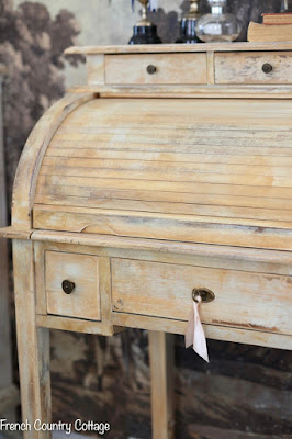 petite vintage style rolltop desk