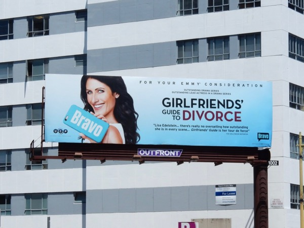 Girlfriends Guide to Divorce Emmy consideration billboard
