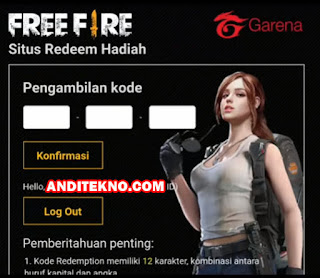 Kode Redeem Garena Free Fire FF Terbaru 20 Maret 2019