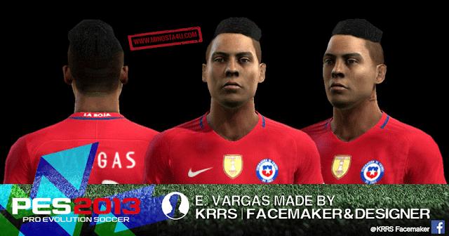 PES 2013 Eduardo Vargas Face