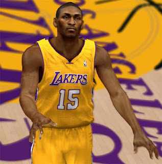 NBA 2K13 Metta World Peace Cyber Face Patch