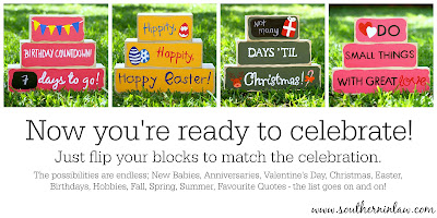Now You're Ready to Celebrate - DIY Holiday Decor Blocks Project