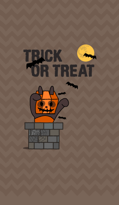 Trick or Treat! + light brown [os]