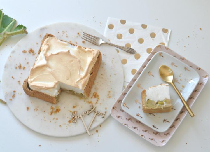 glutenfree Rhubarb-Baiser-Cake