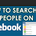 Search for People In Facebook Updated 2019
