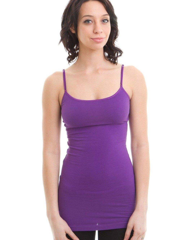 f5f66c19e2a ... Adjustable Spaghetti Strap Tank Top Plus Size. Hollywood Star Fashion  cotton shelf bra cami