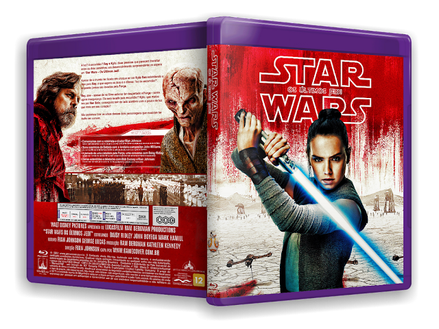 capa bluray Star Wars os últimos jedi