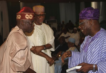 Photos: When Tinubu, Oyegun Met Today At Buhari's Book Launch