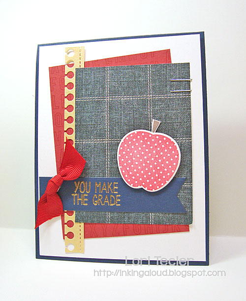You Make the Grade card-designed by Lori Tecler/Inking Aloud-stamps from Reverse Confetti