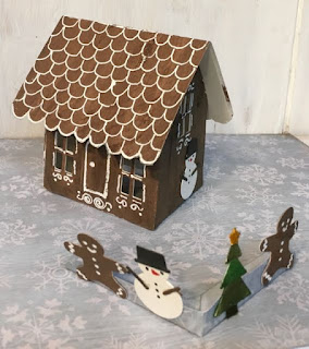 Gingerbread House pop-up house