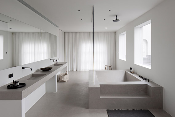 Contemporary bathroom design by Rolies + Dubois