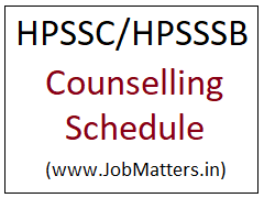 image: HPSSC/HPSSSB Counselling Schedule 2021 @ JobMatters.in