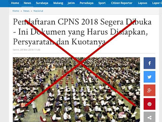 CPNS Hoax