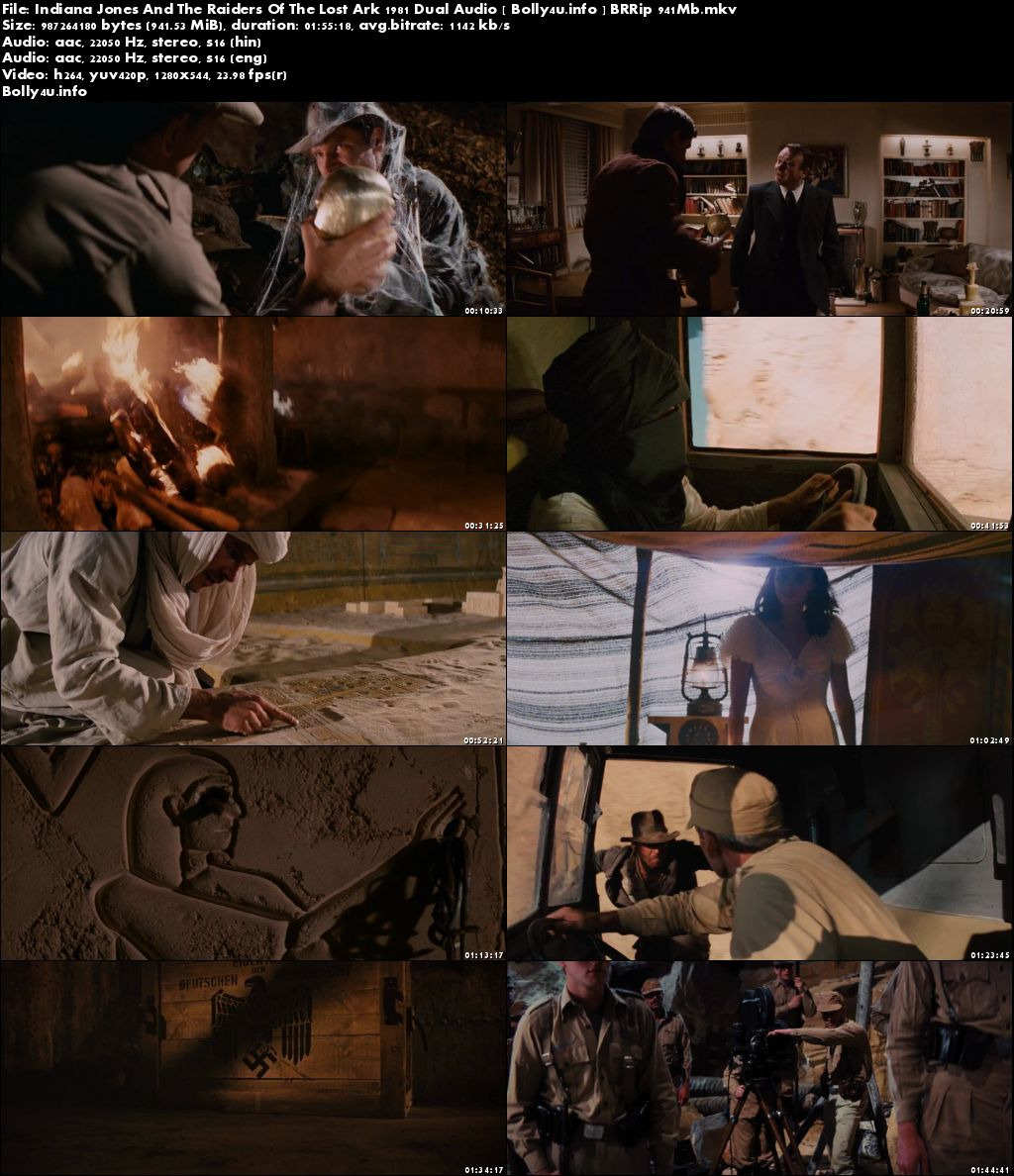 Indiana Jones And The Raiders Of The Lost Ark 1981 BRRip Dual Audio 900MB Hindi 720p Download
