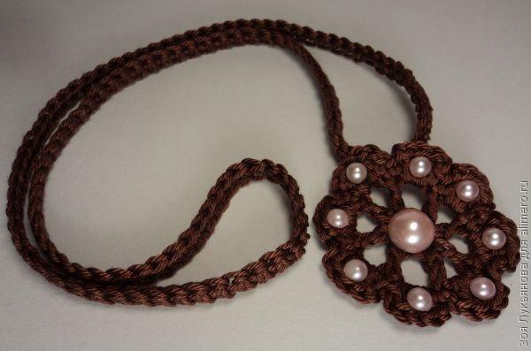 Colgante de Crochet y Perlas