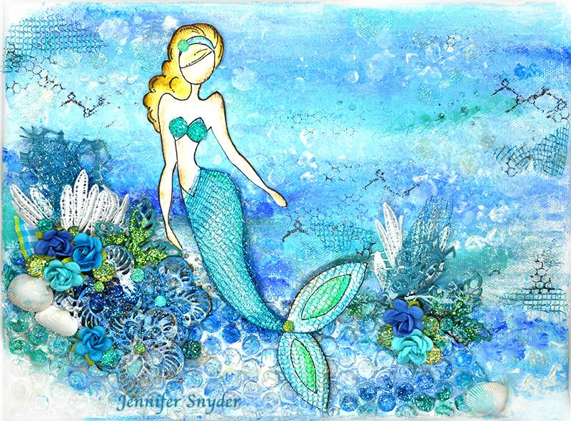 Scrap Escape Flying Unicorns Feb Kit Of The Month Mermaid