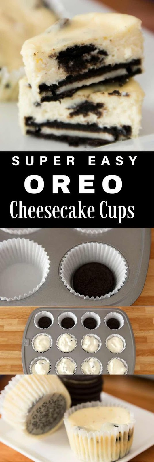 Mini Oreo Cheesecake Cupcakes
