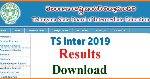 TS Inter First Year IPE 2019 Results @www bie telangana gov