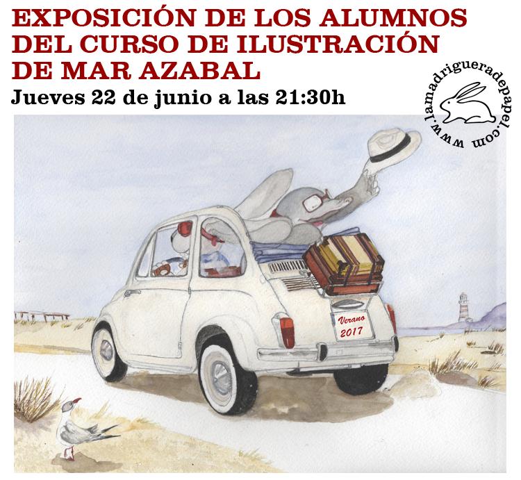 TOLEDO-LIBRERÍA-LA MADRIGUERA DE PAPEL-ACTIVIDADES-EXPOSICIÓN-CURSO ILUSTRACIÓN-MAR AZABAL
