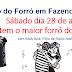 Recanto do Forró em Fazenda Nova realiza o maior forró do ano, neste sábado dia 28