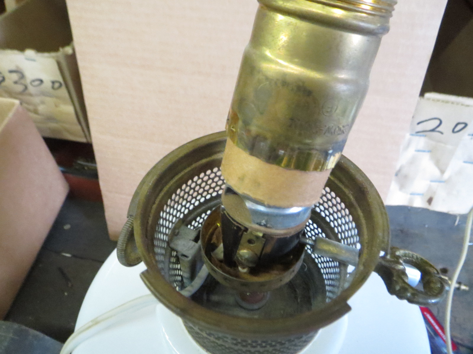 Lamp Parts and Repair | Lamp Doctor: Opal Electric Aladdin ...