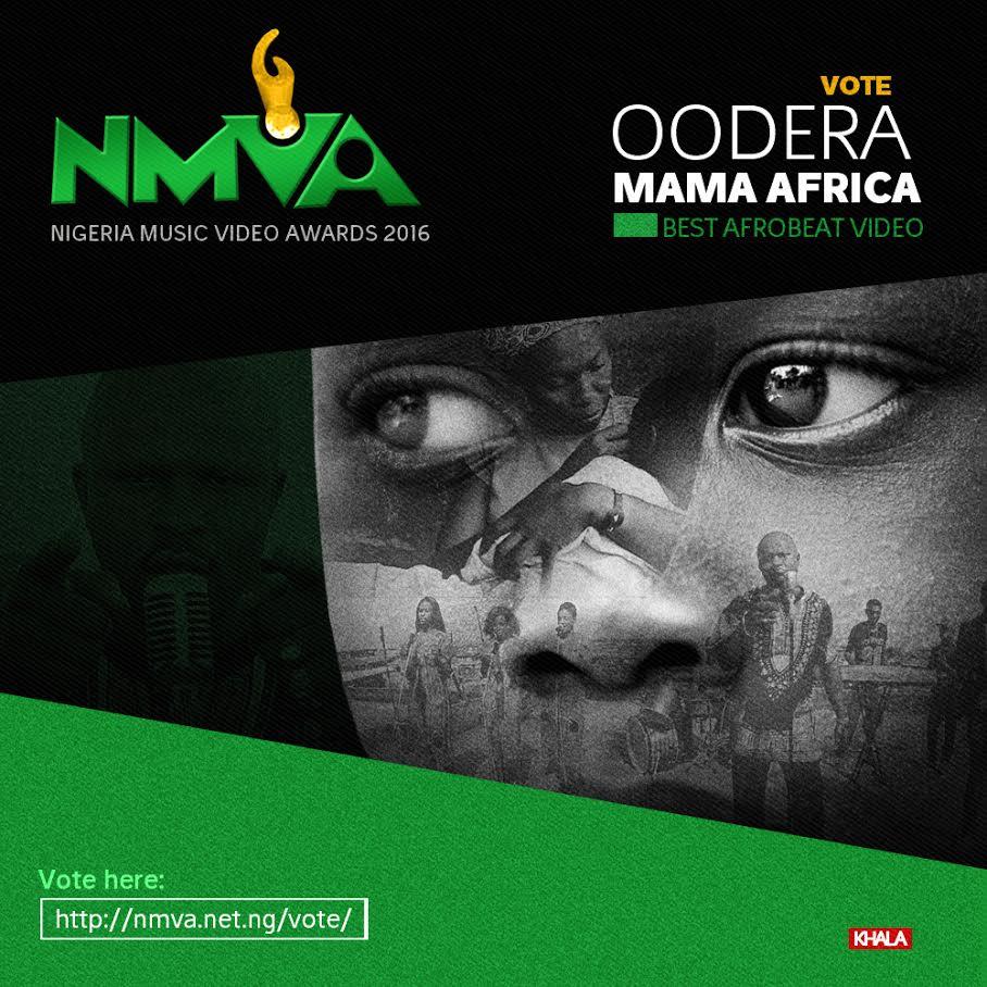 Mama Africa By Oodera Gets NMVA Nomination @ooderaDey