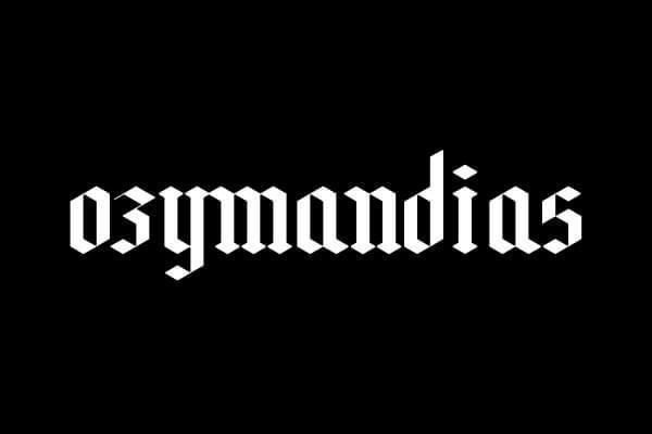 Font Modern Blackletter Grafis - Ozymandias Free Parallel Pen Font