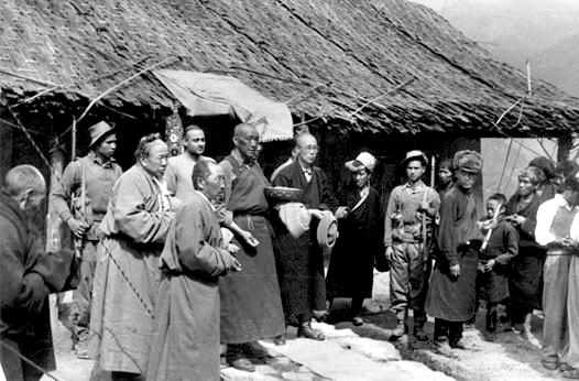 The Dalai Lama crosses the Indian border - rare documents